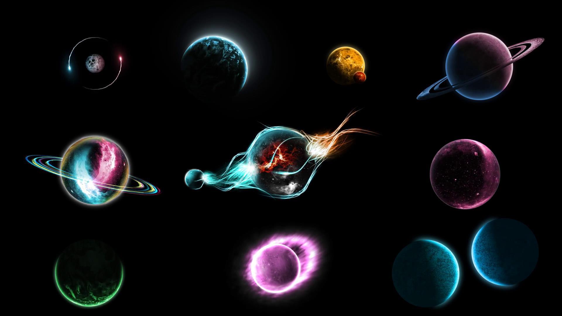 ae模板 科幻太空太阳系银河星系行星特效模型模板 ae素材