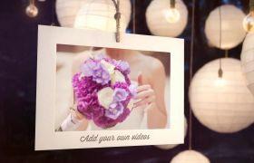 AE模板 优雅灯笼晚会婚礼电子相册展示视频模板 AE素材