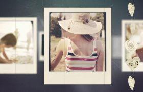AE模板 温馨简约家庭回忆录电子相册照片展示模板 AE素材