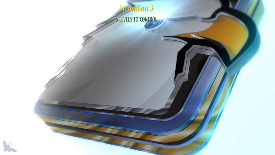 AE视频酷炫三维分层模板展示LOGO标志视频陆磊的立体图片