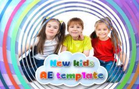 AE模板 欢乐儿童节日庆祝照片制作模板 AE素材