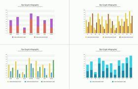 AE模板 多样式商务图表数据分析信息图动画模板 AE素材