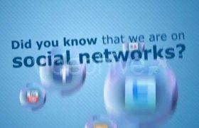 AE模板 肥皂泡泡带logo社交媒体标志动画模板 AE素材