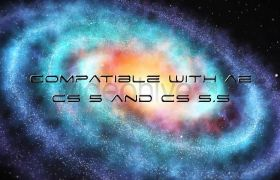 AE模板 宇宙银河星云炫丽粒子殊效字幕片头模板 AE素材