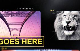 AE模板 时髦芳华生机影戏胶片作风切换照片模板 AE素材