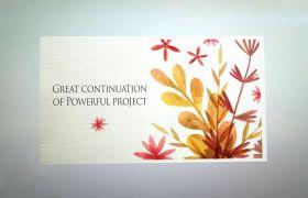 AE模板 优雅手绘生长花卉图案印花装饰特效模板 AE素材