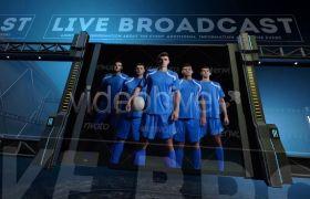 AE模板 三维运动场屏幕动画足球活动竞赛宣传模板 AE素材