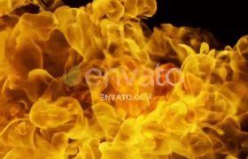AE模板 震撼燃烧粒子火焰演绎logo标志动画模板 AE素材