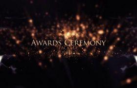 AE模板 金色粒子慈悲晚会颁奖仪式包装模板 AE素材