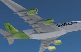 AE模板 航空公司3D飞机云层宣传片模板 AE素材