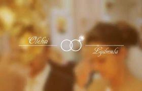 AE模板 浪漫花纹线条婚礼标题文字动态素材模板 AE素材