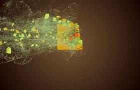 AE模板 创意炫彩粒子破碎图形演绎LOGO标志动画模板 AE素材