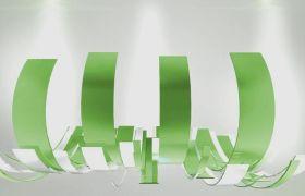 AE模板 3D动感丝带海浪图形动画包装标记模板 AE素材