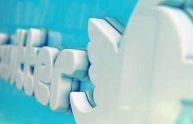 AE模板 3D立体光滑社交媒体标志LOGO片头动画模板 AE素材