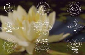 AE模板 18组婚礼封面标题字幕动画模板 AE素材