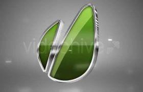 AE模板 流光企业标志快速旋转展示模板 AE素材