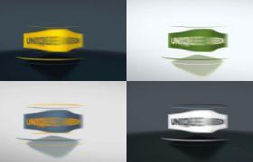 AE模板 简洁3D立方体旋转变换标志logo动画模板 AE素材