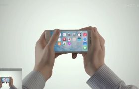 AE模板 商务科技苹果手机平板APP使用操纵展现模板 AE素材