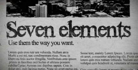 复古泛黄旧报纸图文特效专题  AE模板 视频素材 会声会影