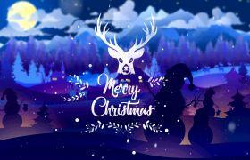 AE模板 精美创意圣诞节字幕开场动画模板 AE素材