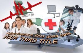 AE模板 简便3D开题医疗东西产物展现引见模板 AE素材