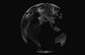 全息地球转动模拟特效视频素材