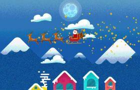 AE模板 卡通圣诞节庆祝文字开场动画模板 AE素材