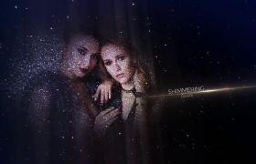 AE模板 浪漫星空粒子特效展示唯美肖像写真模板 AE素材