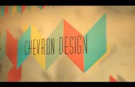 AE模板 时髦复古菱形折纸图文宣传片展现模板 AE素材