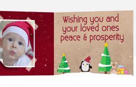 AE模板 浪漫温馨圣诞节聚会家庭相册幻灯动画模板 AE素材