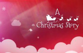 AE模板 有趣创意卡通圣诞节相册幻灯片模板 AE素材