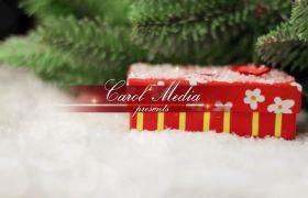 AE模板 温馨圣诞节相框照片图文标题模板 AE素材