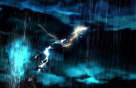 电闪雷鸣模拟动画转场特效