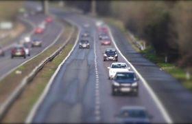 马路车流经过快速拍摄高清实拍