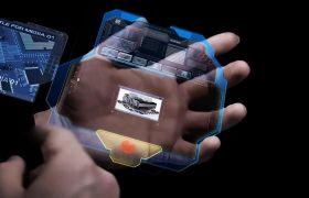 AE模板 迷信技能模仿科幻影戏手掌操纵殊效模板 AE素材