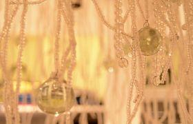 家庭水晶吊灯特写镜头高清实拍