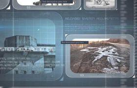AE模板 未来科技感刻度线图文幻灯片模板 AE素材