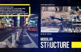 AE模板 时尚城市文化幻灯模板 色彩滤镜特效 AE素材