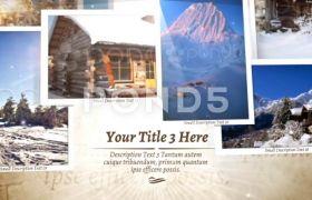 AE模板 世界旅游纪念相册模板  照片叠加特效 AE素材