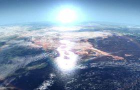 地球外太空行星外表视频素材