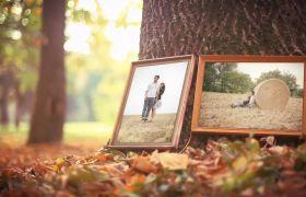 AE模板 温馨家庭艺术照相册模板  温暖秋天气氛渲染 AE素材