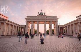 4K高清视频柏林街头城市风光人文建筑名胜