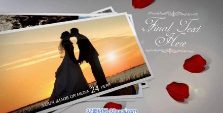 充溢浓浓爱意的恋人节婚庆爱心相册AE模板视频素材