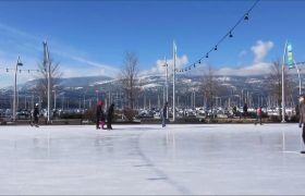 室外滑冰场溜冰活动高清实拍