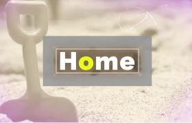 AE模板 生动多彩翻转折叠家庭电子回忆相册模板 AE素材