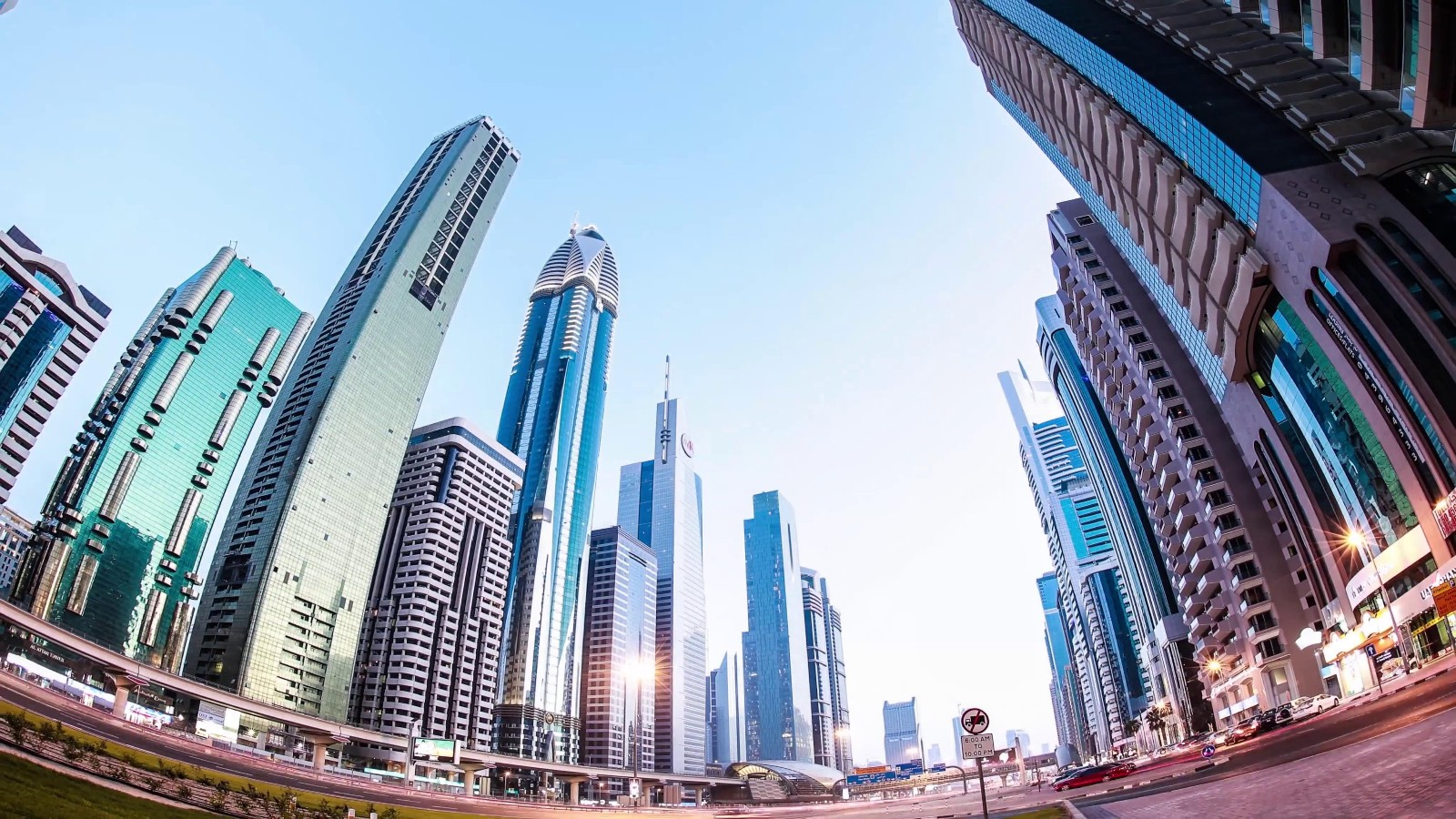 迪拜旅行帆船酒店街道高清实拍