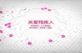 AE模板 精美简洁花瓣纸片飞舞公益宣传片模板 AE素材