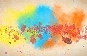 ?會聲會影 夢幻繽紛彩色煙霧粒子圖文會聲會影模板