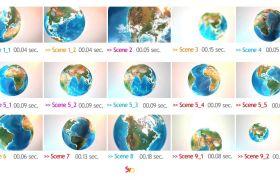 AE模板 立体地球模型动态旋转视频包装模板 AE素材