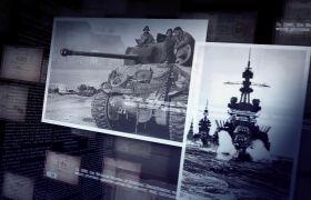 AE模板 懷舊軍事歷史記載片圖文展現包裝模板 AE素材